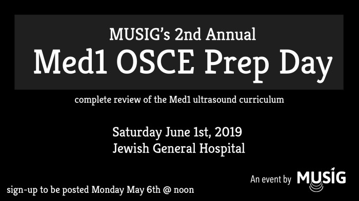 2nd annual Med1 OSCE Prep Day at JGH